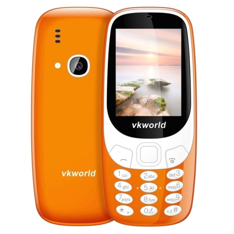 VKWORLD Z3310 FEATURE PHONE  2.4 INCH 3D SCREEN, 1450MAH BATTERY  CLASS K - ARANCIONE