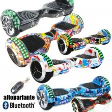 HOVERBOARD 6,5 POLLICI CON LUCI LED E BLUETOOTH SPEAKER - SELF BALANCE SMART OVERBOARD