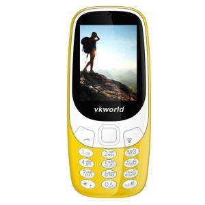 VKWORLD Z3310 FEATURE PHONE  2.4 INCH 3D SCREEN, 1450MAH BATTERY  CLASS K - GIALLO