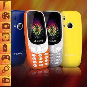 VKWORLD Z3310 FEATURE PHONE  2.4 INCH 3D SCREEN, 1450MAH BATTERY  CLASS K - ARANCIONE