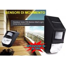 FARETTO PANNELLO CON SENSORE A ENERGIA SOLARE E CREPUSCOLARE A LED 2W