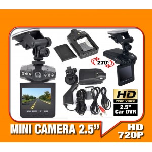"Mini Camera 2.5"" HD 720 DVR TELECAMERA PER AUTO"